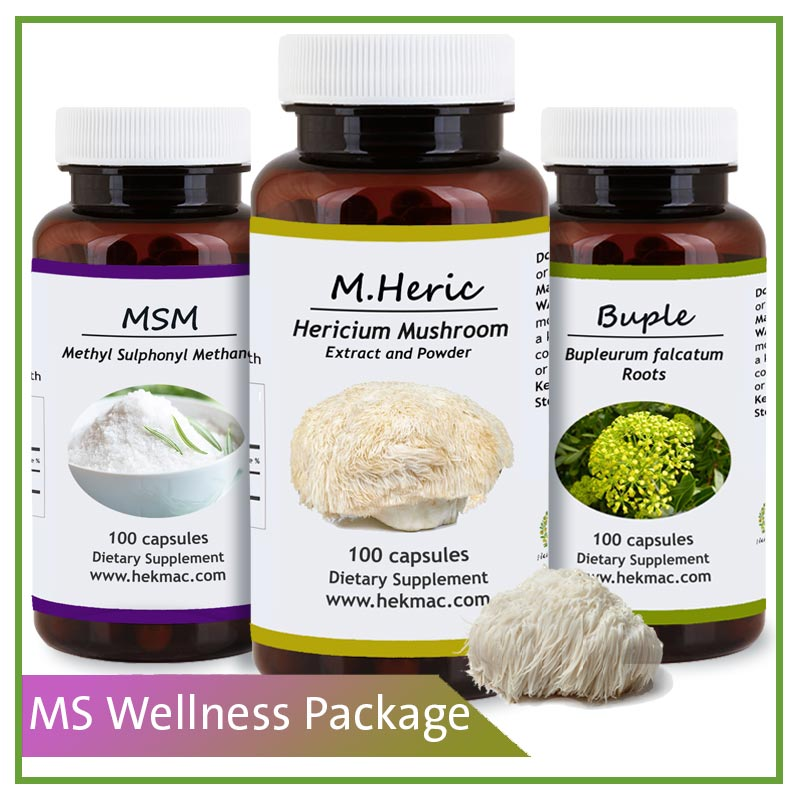 Multiple Sclerosis (MS) Support Package - Natural Supplements for Multiple Sclerosis - 50 days