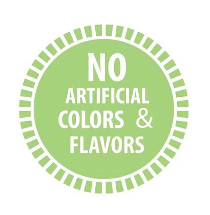 no artificial colors & flavors