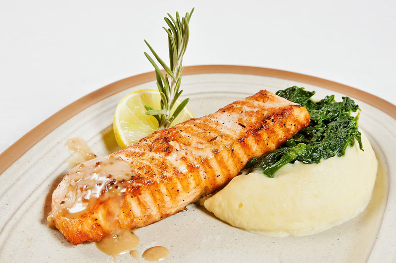 Salmon with Puree for MS