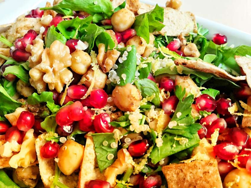Quinoa and Chickpeas Salad for Cancer Patients
