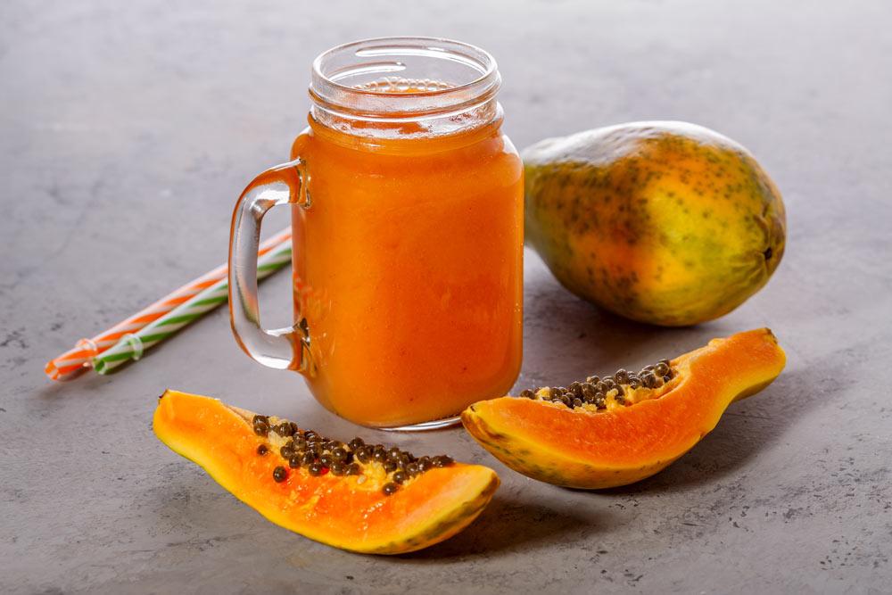 Refreshing Yellow Papaya Juice for Depression
