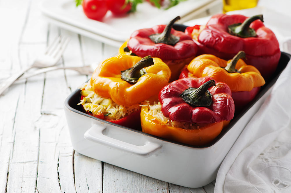 Stuffed Bell Pepper to Improve Your Mood