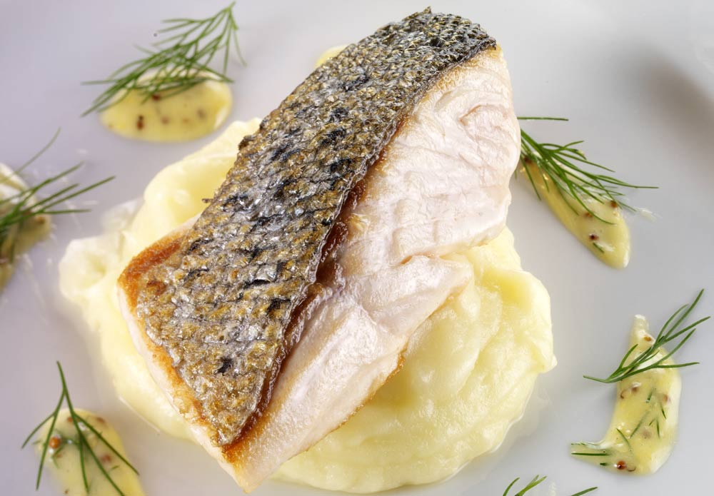Salmon Steak with Puree for Infertility in Men