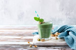 Warm Green Spirulina Drink