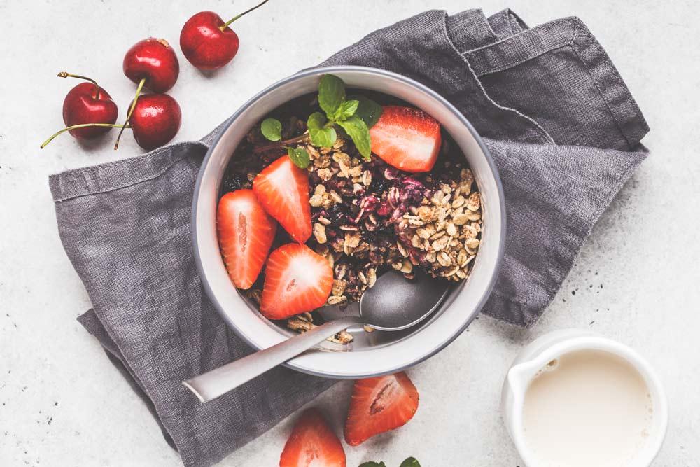 Oatmeal Strawberry Cobbler for Diabetes