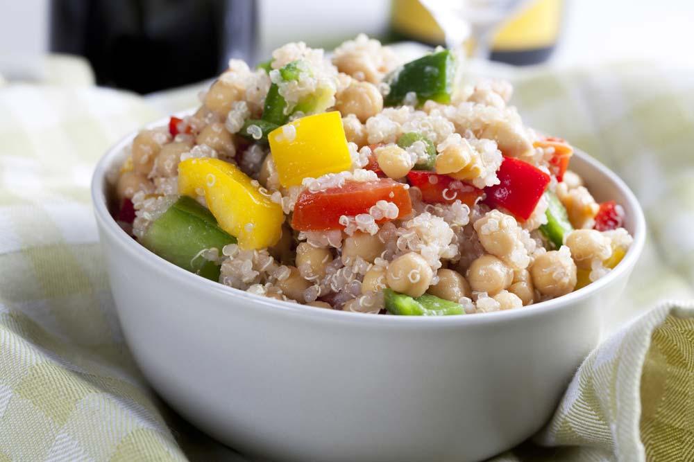 Quinoa and Chickpeas Salad for Diabetes