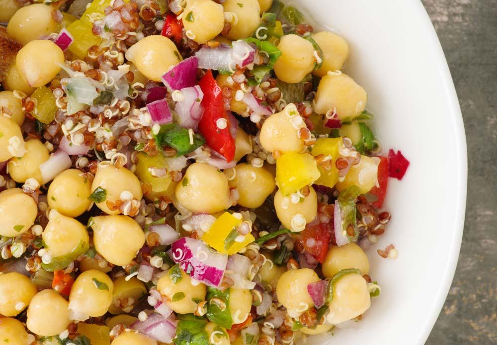 Quinoa Chickpeas Salad for Fertility-Boosting