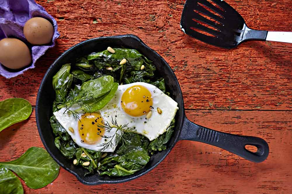 Spinach Eggs for Herpes Patients: A Safe Breakfast