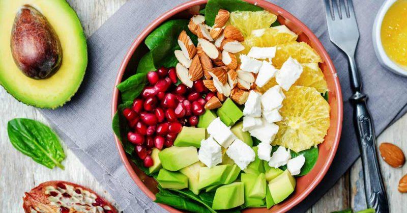 Avocado and Pomegranate Salad for Parkinson's
