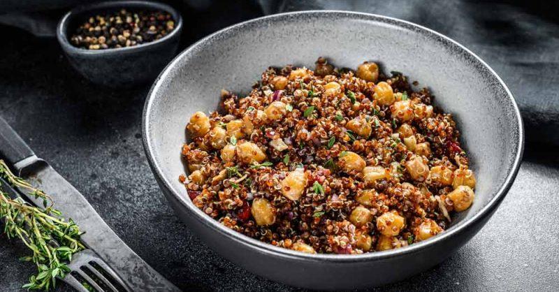 Parkinson's Disease Quinoa Chickpeas Salad