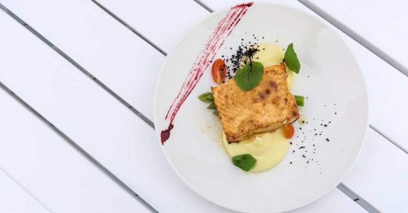 Salmon with Potato for HSV