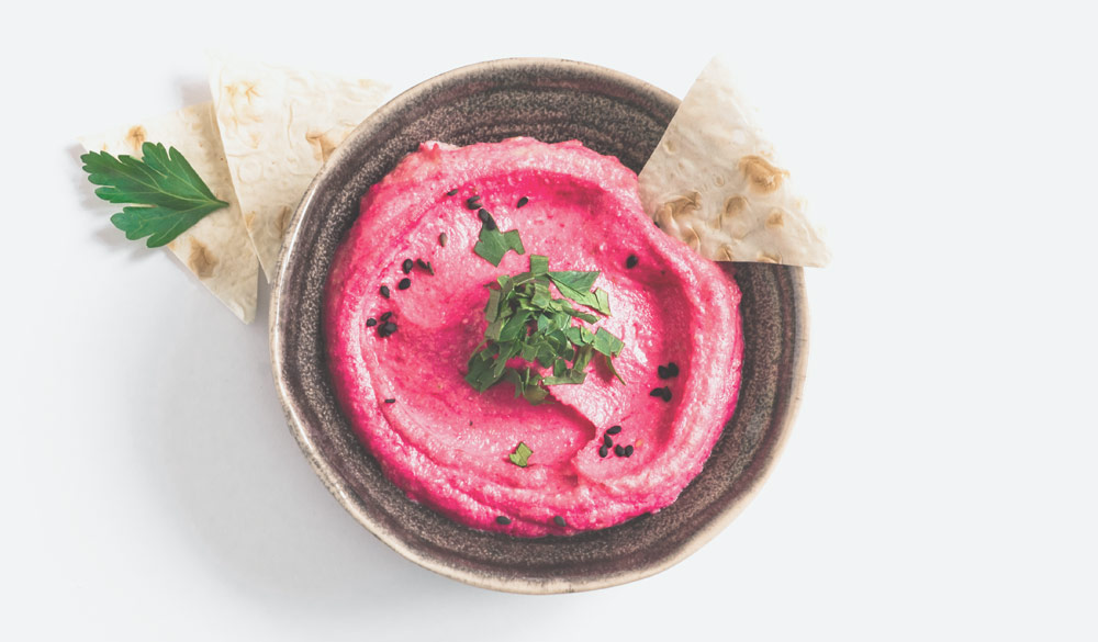 Beet Moutabal with Tahini for Herpes Patients