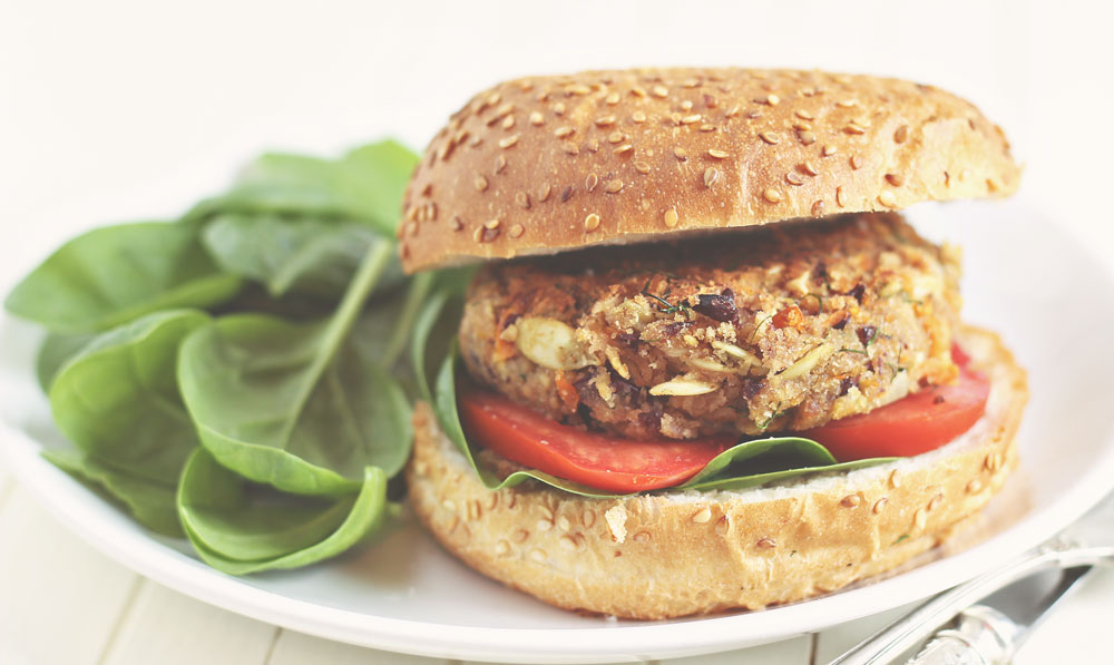 Healthy Vegan Burger for Leiomyoma: A Vegetarian Meal