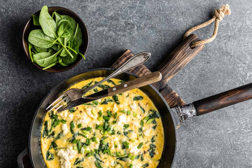 Spinach Eggs Breakfast for Uterine Fibroids