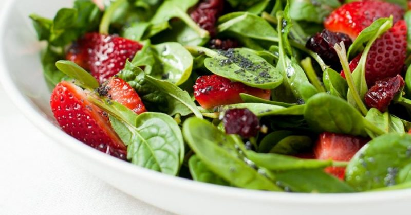 Strawberry Salad for MS Patients